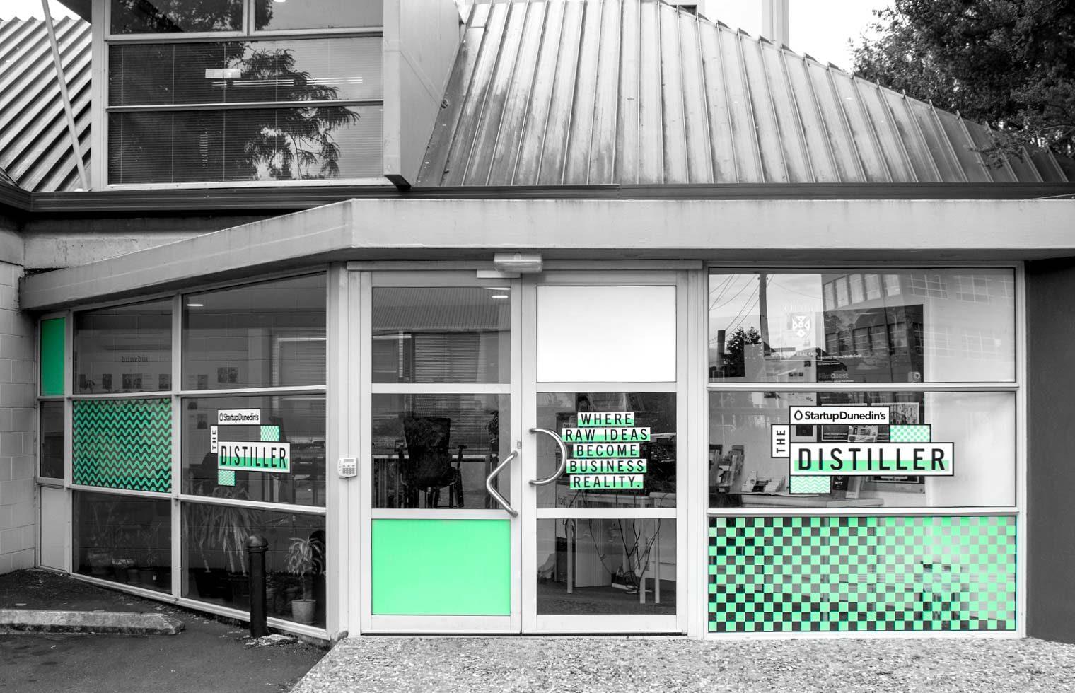 , The Distiller Beschilderung, Swiwi Design – Kreativ Studio – Aargau/Basel