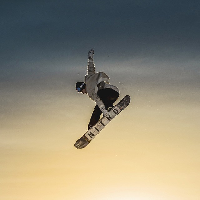snowpark laax – snowboarder photo